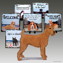 Irish Terrier Slate Signs