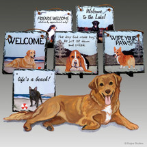 Nova Scotia Duck Tolling Retriever Slate Signs