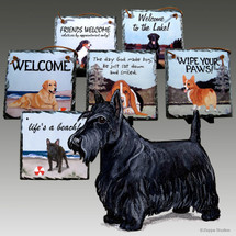 Scottish Terrier Slate Signs