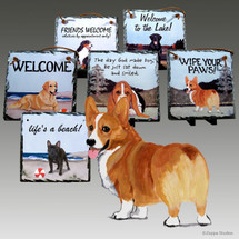 Pembroke Welsh Corgi Slate Signs