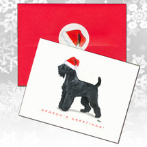 Black Russian Terrier Christmas Cards