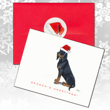 Black & Tan Coonhound Christmas Cards