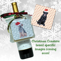 Dogue de Bordeaux Christmas Coasters