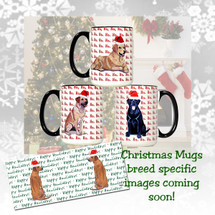 Flat Coated Retriever Christmas Mugs