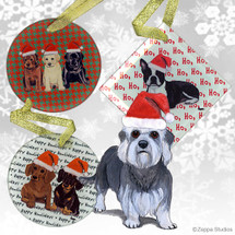 Dandi Dinmont Terrier Christmas Ornament