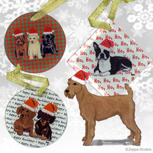 Irish Terrier Christmas Ornaments