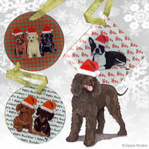 Irish Water Spaniel Christmas Ornaments