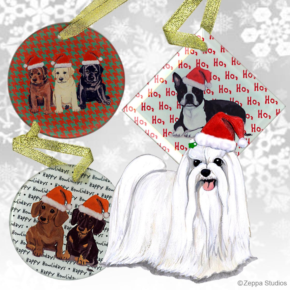 Maltese christmas ornaments - Click To Zoom Malteseornament Maltese Puppy Clip Xmas Ornament