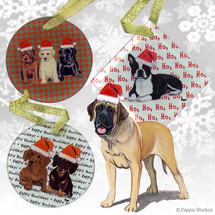 Mastiff Christmas Ornaments