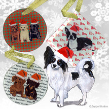 Papillon Christmas Ornaments
