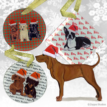 Redbone Coonhound Christmas Ornaments
