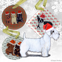 Sealyham Terrier ChristmasOrnaments