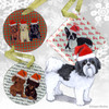 Shih Tzu Puppy Clip Xmas Ornament