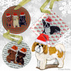 Shih Tzu Tan Puppy Clip Xmas Ornament