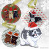 Shih Tzu Puppy Xmas Ornament