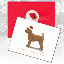 Irish Terrier Christmas Cards