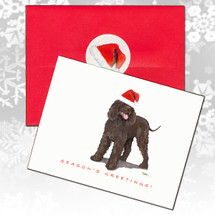 Irish Water Spaniel Christmas Cards