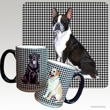 Boston Terrier Houndzstooth Mug