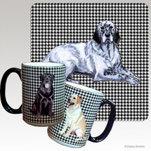 English Setter Houndzstooth Mug