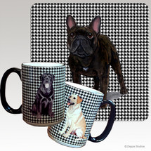 French Bulldog Houndzstooth Mug
