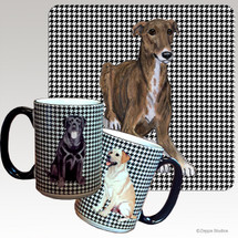 Greyhound Houndzstooth Mug