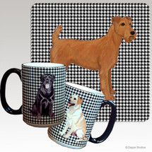 Irish Terrier Houndzstooth Mug