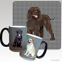 Irish Water Spaniel Houndzstooth Mug
