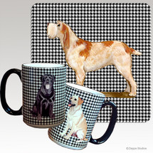 Red & White Italian Spinone Houndzstooth Mug