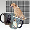Yellow Lab Sitting Houndzstooth Mug