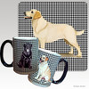 Yellow Lab Standing Houndzstooth Mug