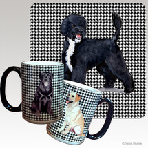 Portuguese Water Dog Houndzstooth Mug