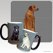 Rhodesian Ridgeback Houndzstooth Mug - Rectangle