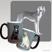 Saluki Houndzstooth Mug - Rectangle