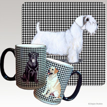 Sealyham Terrier Houndzstooth Mug - Rectangle