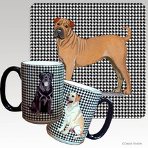 Sharpei Houndzstooth Mug - Rectangle