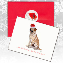 Labrador Retriever, Yellow Christmas Cards