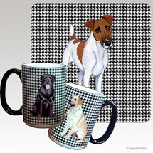 Smooth Fox Terrier Houndzstooth Mug - Rectangle