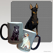 Toy Manchester Terrier Houndzstooth Mug - Rectangle