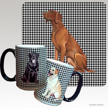 Vizsla Houndzstooth Mug - Rectangle