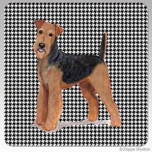 Airedale Houndstooth Coasters