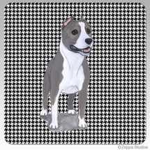 American Staffordshire Terrier Houndzstooth Coasters