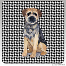 Border Terrier Houndzstooth Coasters