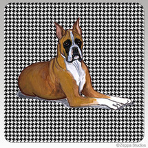 Boxer Houndstooth Coasters