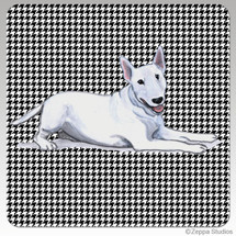 Bull Terrier Houndzstooth Coasters