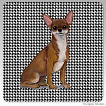 Chihuahua Houndstooth Coasters