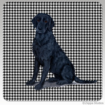 Curly Coated Retriever Houndzstooth Coasters