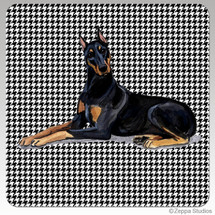 Doberman Houndzstooth Coasters