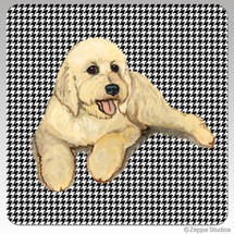 Doodle Houndzstooth Coasters