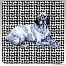English Setter Houndzstooth Coasters