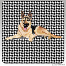 German Shepherd Houndzstooth Coasters